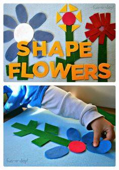 Sempre criança:   http://b-inspiredmama.com/2013/04/felt-shape-fl...