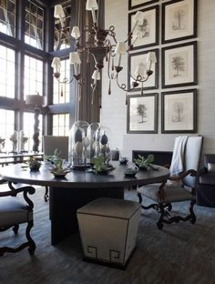 McAlpine Booth & Ferrier Interiors Giles Lakehouse - McAlpine Booth & Ferrier Interiors.  framed trees