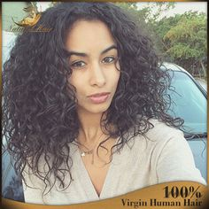 84.05$  Buy here - http://ali4ev.worldwells.pw/go.php?t=32584250187 - Short Afro Kinky Curly Wig Virgin Brazilian Lace Front Wig Kinky Curly Glueless Human Hair Full Lace Wig With Baby Hair 84.05$