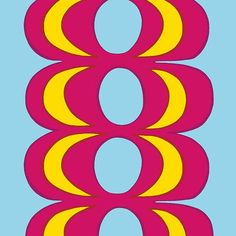 Marimekko Light Blue/Red/Yellow Kaivo Fabric Repeat $45.00