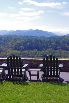 Relaxation guaranteed with this mountain view from the Inn at Biltmore in Asheville NC