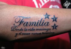 Familia Tattoo Studio, Tattoo Quotes, Tattoos, Amor, Tatuajes, Tattoo, Tattos, Inspiration Tattoos, Quote Tattoos
