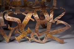 Detail from the Alphabet Chair, by Sarah Peters
