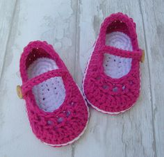 Baby shoes crochet booties little mary jane dark by Ohprettypretty