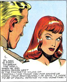 Flash Gordon and Queen Desira B Alex Raymond. Comic Book Panels, Comic Book Covers, Comic Books, Fantasy Comics, Fantasy Art, Flash Gordon Comic, Ligne Claire, Bd Comics, Wow Art