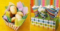 Idéia de enfeite - Festa colorida