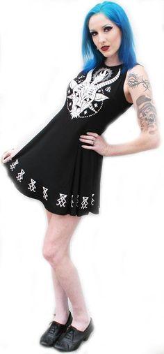 New Horny skater dress by Killstar available at www.ipso-facto.com.