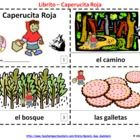 2 Little Red Riding Hood Spanish Booklets - Libritos de Caperucita Roja - One contains text and illustrations and the other contains text only so students can sketch and create their own versions of the the Spanish Little Red Riding Hood booklets.