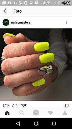 - Best ideas for decoration and makeup - Bright Pink Nails, Matte Pink Nails, Yellow Nails, Green Nail, Gold Nail, Neon Acrylic Nails, Neon Nails, Dope Nails, Elegant Touch Nails