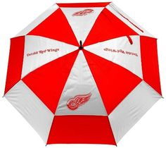 """NHL Detroit Red Wings Umbrella by Team Golf. $31.22. 62"""" double-canopy umbrella with multi-colored panels and full color durable imprint. Includes an easy grip molded handle. Withstands strong winds."""