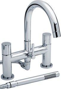 bath shower mixer faucet with swivel spout & shower kit (chrome). - kbbusa.com #faucet