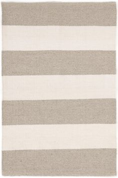 Dash & Albert | Falls Village Stripe Cement Indoor/Outdoor Rug | Both durable and sophisticated, this eco-friendly indoor/outdoor rug, featuring a classic chunky stripe in an earthy tone, is at home in any room of the house. Part of our Bunny Williams collection. Due to the handmade nature of this rug, variations in color are expected.