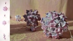 purple origami - kusudama gentileza and tulips