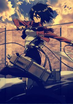 Mikasa Ackerman of Attack on Titan / Shingeki no Kyojin Mikasa, Armin, Manga Anime, Me Anime, Manga Art, Anime Girls, Anime Art, Guerra Ninja, Snk Cosplay