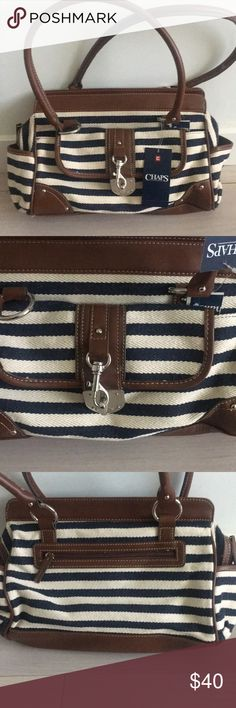 Nautical Purse NWT Over the shoulder Nautical theme Purse! Chaps Bags Shoulder Bags