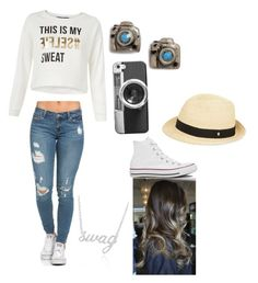 """""""#  ✌"""" by tyanna955 on Polyvore featuring Venessa Arizaga, Converse, Casetify, Helen Kaminski, Belk & Co., women's clothing, women, female, woman and misses"""