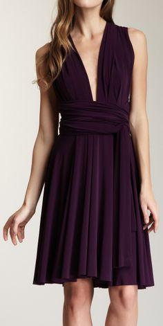 Plunge infinity dress
