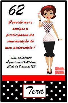 Convite Personalizado - Tema anos 60