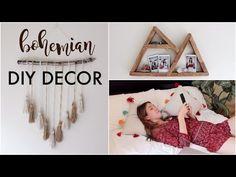 DIY Minimalist/Boho Room Decor (Tumblr/Pinterest Inspired) | Popsicle mountain shaped wall hanging Natasha Rose - YouTube
