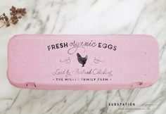 Custom Chicken Stamp - Large Egg Carton Label - Farm Stamp - Fresh Eggs Stamp - Chicken Coop Stamp - Packaging - Homestead - Farm Stand