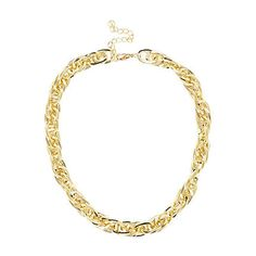 Gold tone linked chain short necklace £12.00