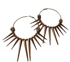 Gild Rivet Punk Hoop Earrings