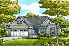 semi circular kitchen...House Plan 20-2066