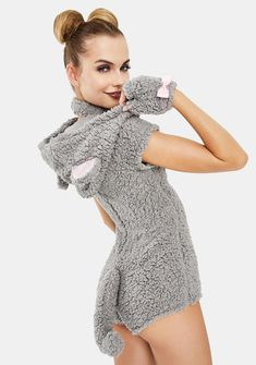 Sexy Mouse Romper Halloween Costume | Dolls Kill Halloween Birthday, Halloween 2020, Adult Costumes, Halloween Costumes, Mighty Mouse, Mouse Costume, Costume Makeup, High Neck Dress, Turtle Neck