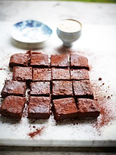 Double choc bean brownies-made with adzuki beans (or substitute with kidney beans)