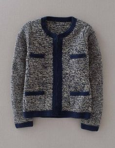 I've+spotted+this+@BodenClothing+Hand+Crochet+Jacket+Navy/Ecru+Tweed