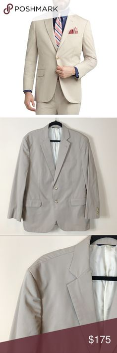 Brooks Brothers Madison Fit Suit Jacket in Natural Excellent condition, like-new condition! Brooks Brothers Madison Fit Suit Jacket in Natural. Size 44R. No modeling/trades. Brooks Brothers Suits & Blazers Sport Coats & Blazers