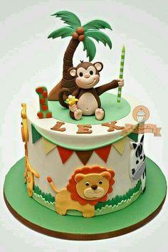 Verjaardag Jungle Safari Cake, Safari Cakes