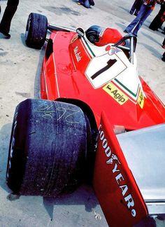 Niki Lauda Ferrari 312T2 1976 British Grand Prix Brands Hatch