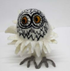 Noble owl, felted