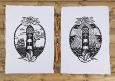 The Calm Before The Storm - lighthouse Lino prints inspire by traditional tattoo art Storm Tattoo, Traditional Tattoo Art, Calm Before The Storm, Handmade Home, Linocut Prints, One Design, Large Prints, Printing Process, Lighthouse