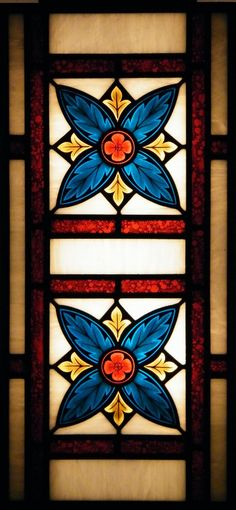 Stained glass panel with traditional medieval pattern www.ikostudio.it
