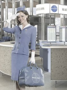 """""""stewardess"""" on a defunct airline!"""
