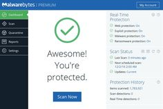 Malwarebytes 3.0 Premium software in action screenshot