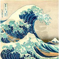 Great Wave off Kangawa by Hokusai Shower Curtain on CafePress.com