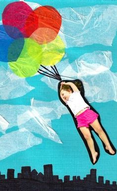 Easy Art Projects for kids from Hand Made Kids Art. Take flight in this easy to  make collage.