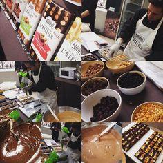 Création de notre tablette de chocolat #nestle #lesrecettesdelatelier #chocolat #tablette #instachocolate #blogger #event