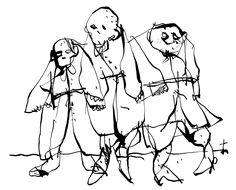"""Illustration pour la réédition du roman d'Octave Mirbeau """"Sébastien Roch""""."""