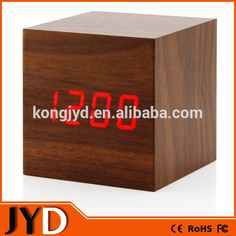 JYD  DAC03 2015 New Digital Wooden LED Alarm Clock, LED Wooden Digital  Table Clocks