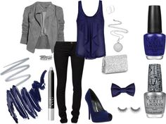 """Beautifully Blue"" by me2carly on Polyvore"