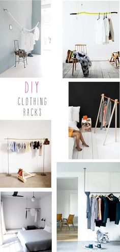 DIY Clothing Racks. absolutely.