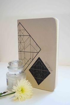 notebook moleskine lozenge geometric by ftillustrations on Etsy, €12.00