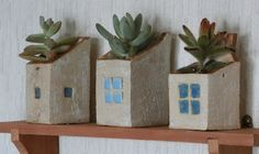 Discover amazing things and connect with passionate people. Ceramic Plant Pots, Ceramic Houses, Wall Pockets, Potted Plants, Ceramic Pottery, Planter Pots, Succulents, Deco, Mini