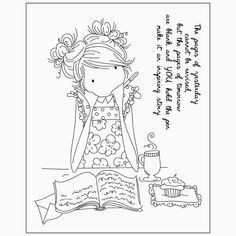 Ideas for how to use tampons girls Cute Coloring Pages, Disney Coloring Pages, Free Printable Coloring Pages, Adult Coloring Pages, Coloring Books, Scrapbooking Photo, Tampons Transparents, Whimsy Stamps, Cute Images