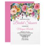 Sublime Pink Floral Colorful Bridal Shower Invite #weddinginspiration #wedding #weddinginvitions #weddingideas #bride
