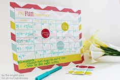 #FREE printable calendar set #craft #diy